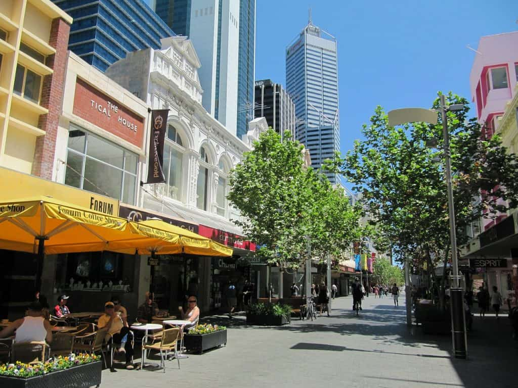 Calle en Perth, Australia