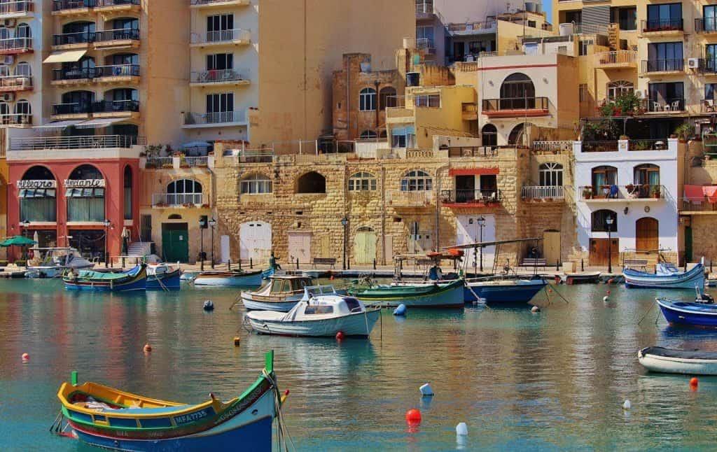 Malta arquitectura mar