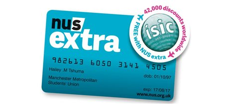 NUS extra tarjeta con ISIC