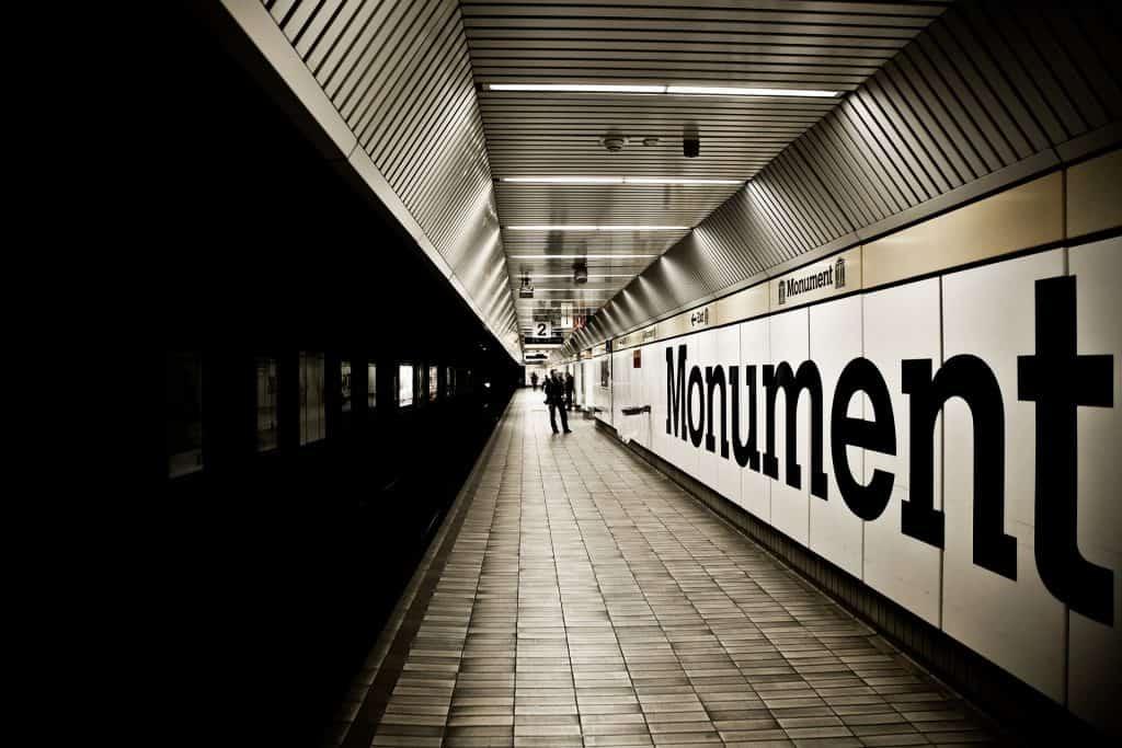 Plataforma de Metro en Newcastle