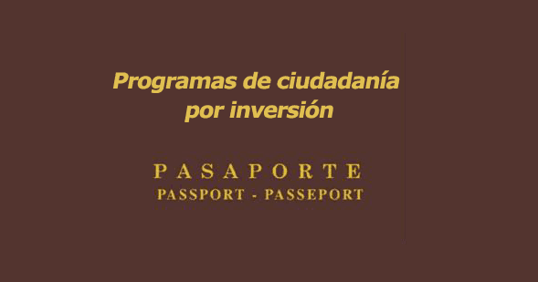 Programas de ciudadanía por inversión