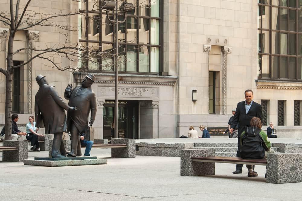 Sculpture 'The Encounter' Yorl University