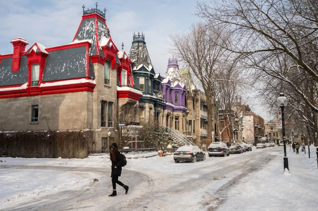 Square Saint Louis Montreal invierno