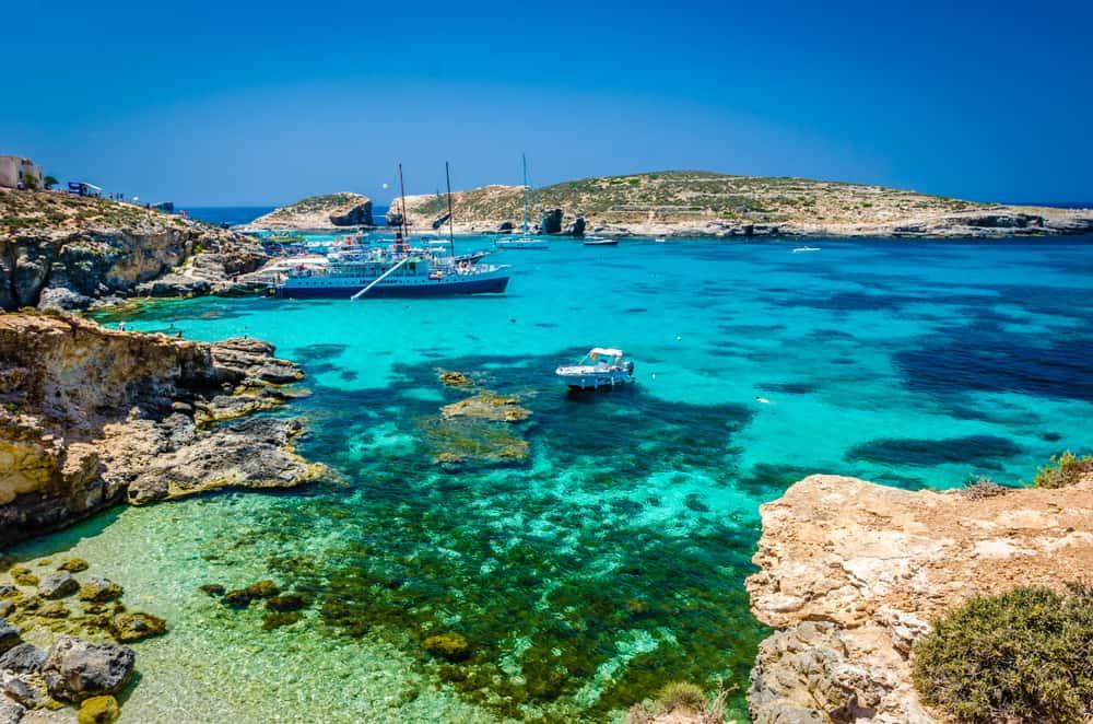 la isla de Comino - Laguna azul