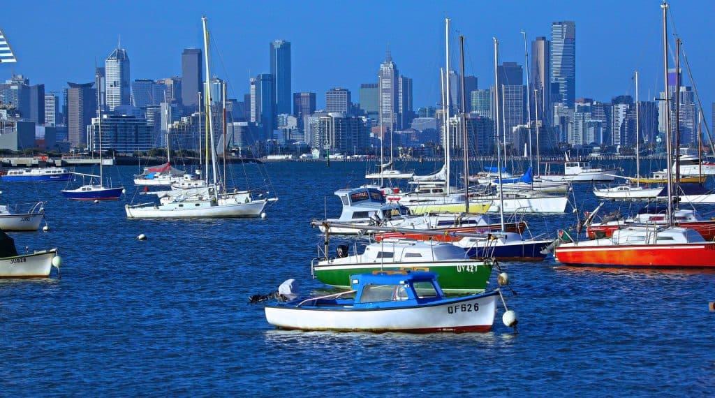 Melbourne desde el mar